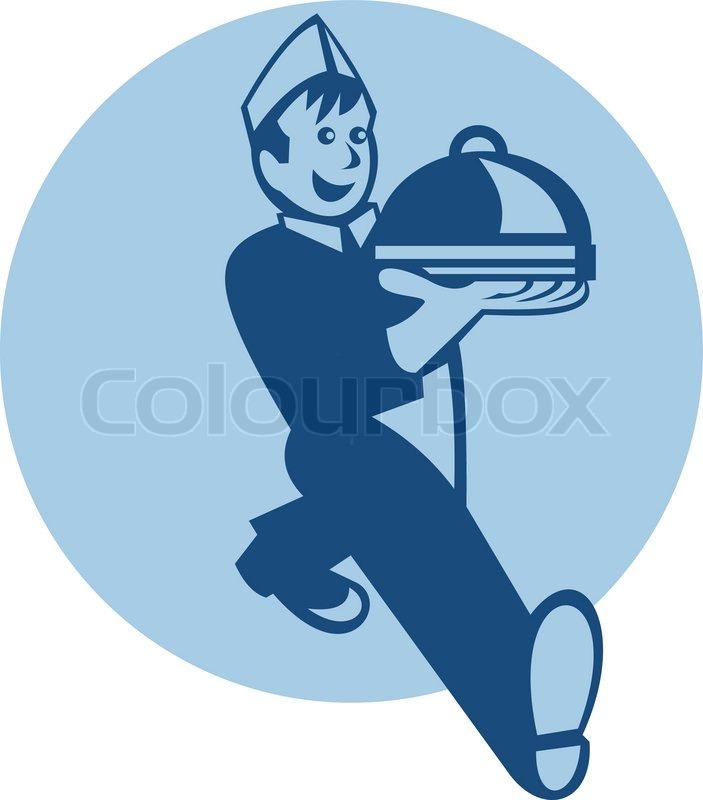 Kellner koch chef baker servieren vektorgrafik colourbox for Koch und kellner