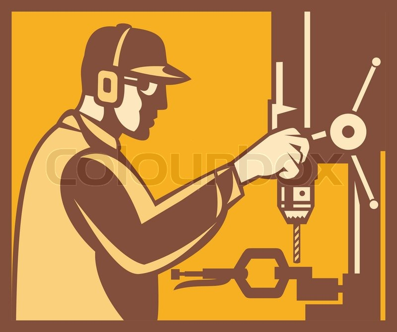 Engineer Construction Equipment Machine Operator Managing  Stock-Vektorgrafik (Lizenzfrei) 243024346