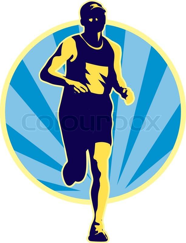 Marathon Running Logos Marathon Runner Running Retro