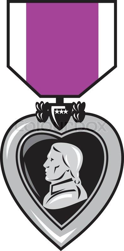 military medal of bravery valor purple heart stock