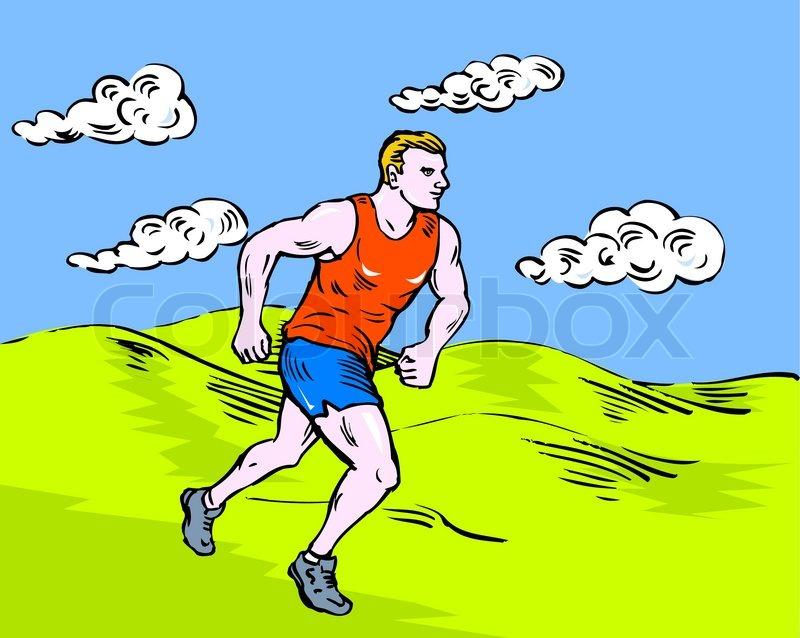 Running Cartoon Marathon Marathon Runner Running Race