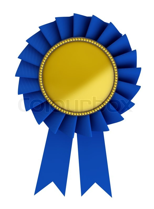 Blue Ribbon Picture 3d illustration of blue ribbon over white background | stock photo |  colourbox
