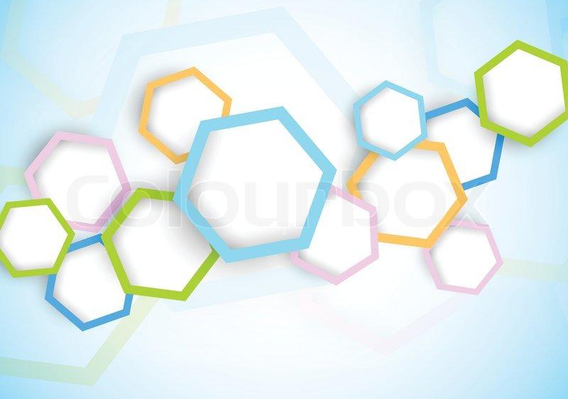 Background With Hexagon Stock Vector Colourbox