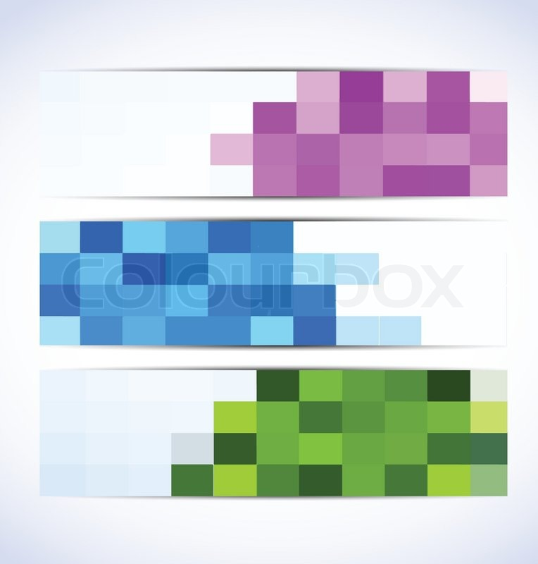 Set of pixelated banners | Stock vector | Colourbox