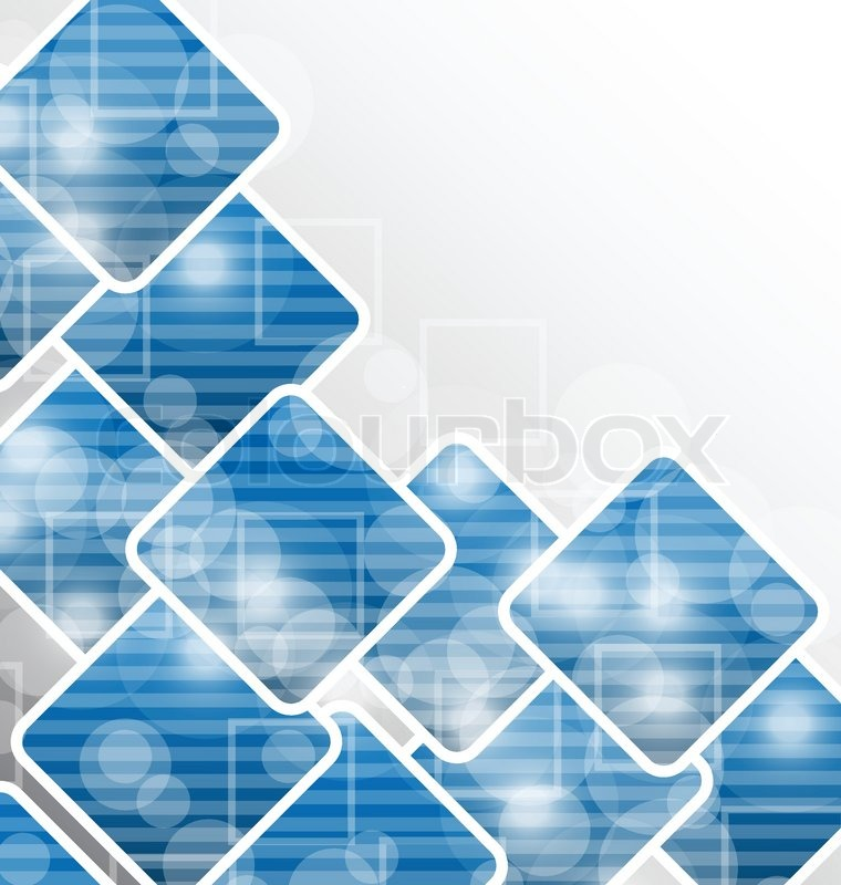Illustration abstract squares blank background for design for Business card background vector