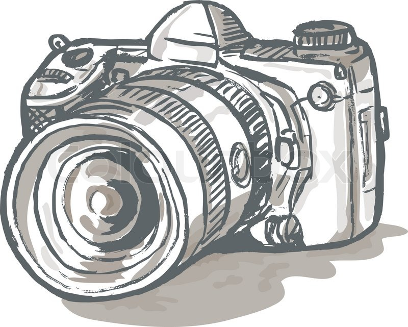 Dslr Camera Drawing