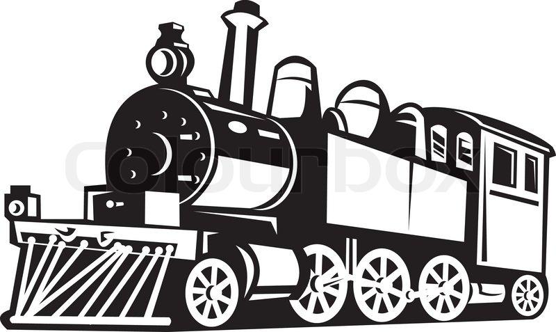 steam train locomotive retro stock vector colourbox locomotive clip art pictures locomotive clipart black and white