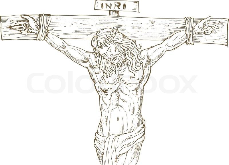 Image Gallery jesus crucifix drawings
