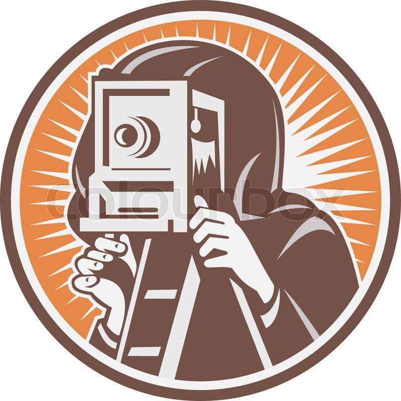 photographer shooting video camera retro stock vector colourbox