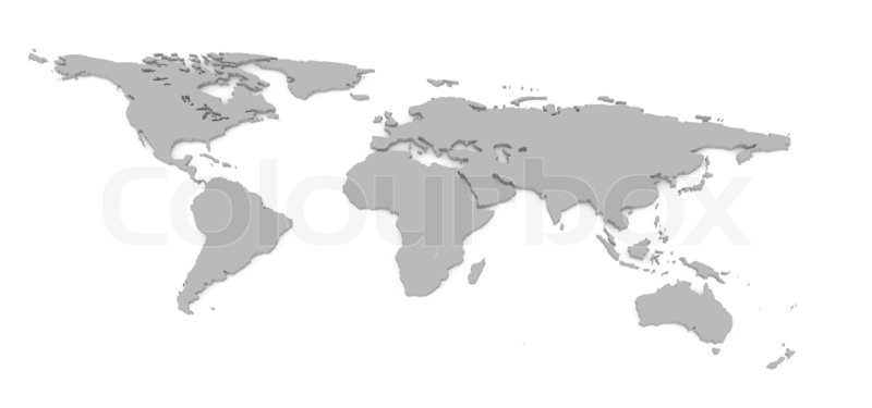 3d world map on white background stock photo colourbox 3d world map on white background stock photo gumiabroncs Image collections