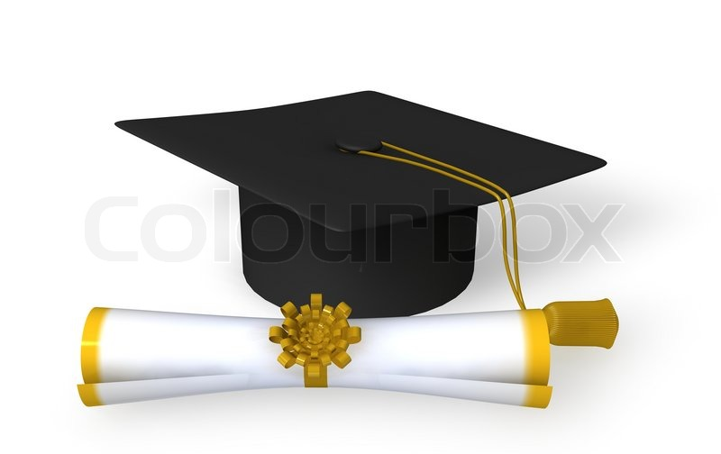 El Dorado Credit Card >> Graduation cap and scroll on white background | Stock ...