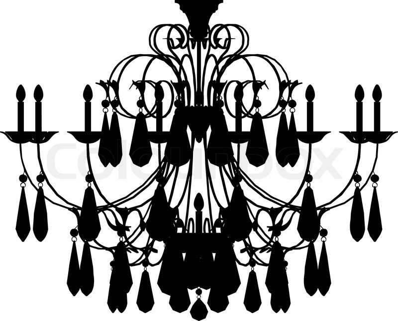 Silhouette of luxury chandelier stock vector colourbox aloadofball Gallery