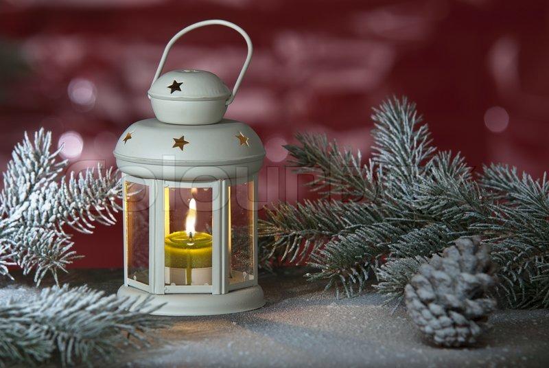 Christmas Lantern.Christmas Lantern Stock Image Colourbox