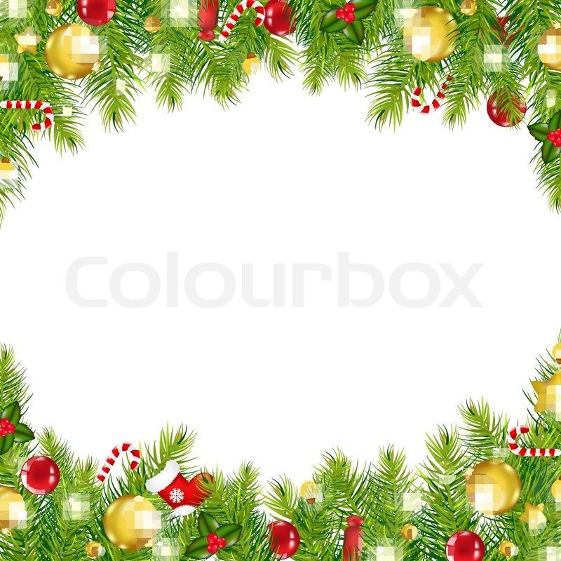 christmas border no background  Christmas Vintage Border | Stock Vector | Colourbox