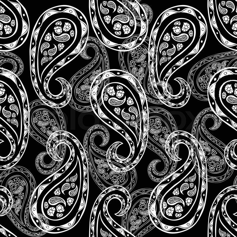 Abstract Paisley Background Fashion Seamless Pattern