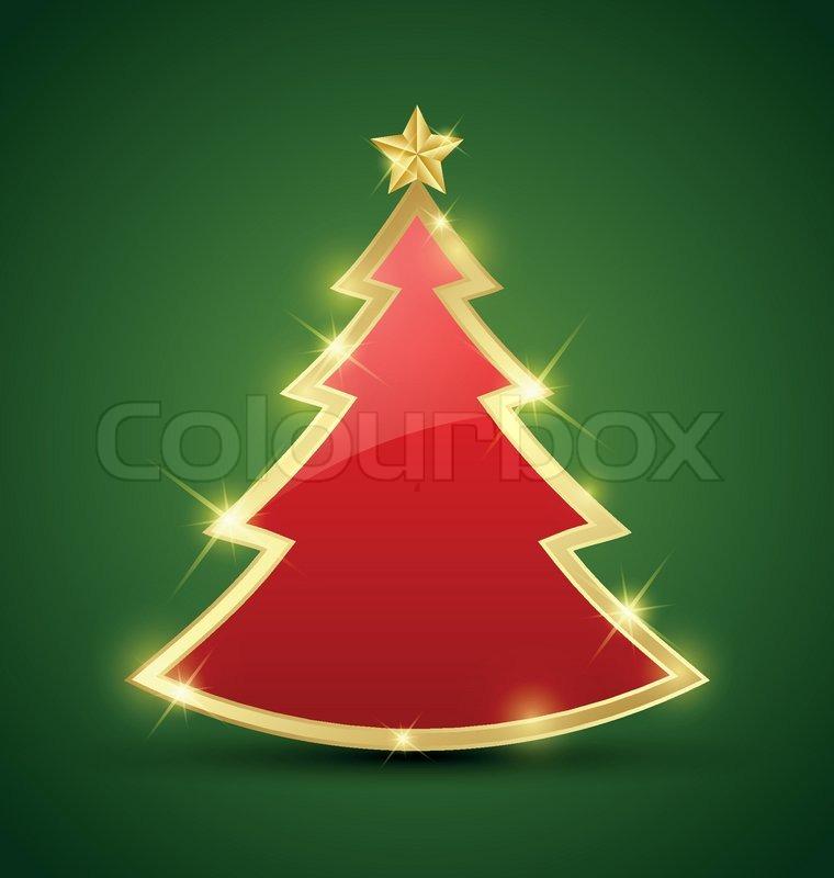 einfache weihnachtsbaum vektorgrafik colourbox. Black Bedroom Furniture Sets. Home Design Ideas