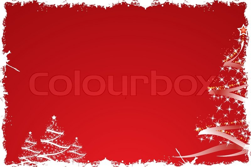 weihnachtsbaum rot stock vektor colourbox. Black Bedroom Furniture Sets. Home Design Ideas
