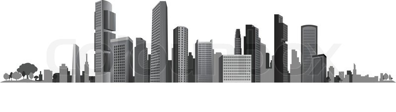 big city town vector background business stock vector colourbox