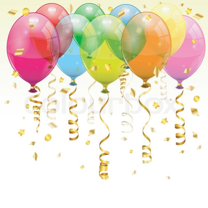 Birthday balloons stock vector colourbox - Happy birthday balloon images hd ...