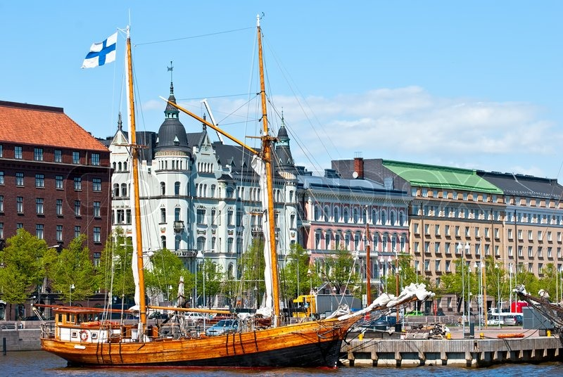 Old Sail Boat In Helsinki Harbour Stock Photo Colourbox