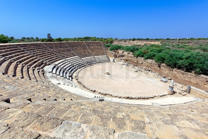 Ancient Theater Of Salamis Near Stock Photo Colourbox
