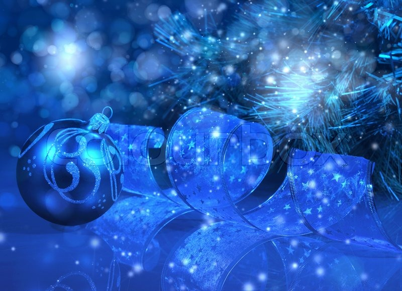 blue christmas collage stock photo colourbox
