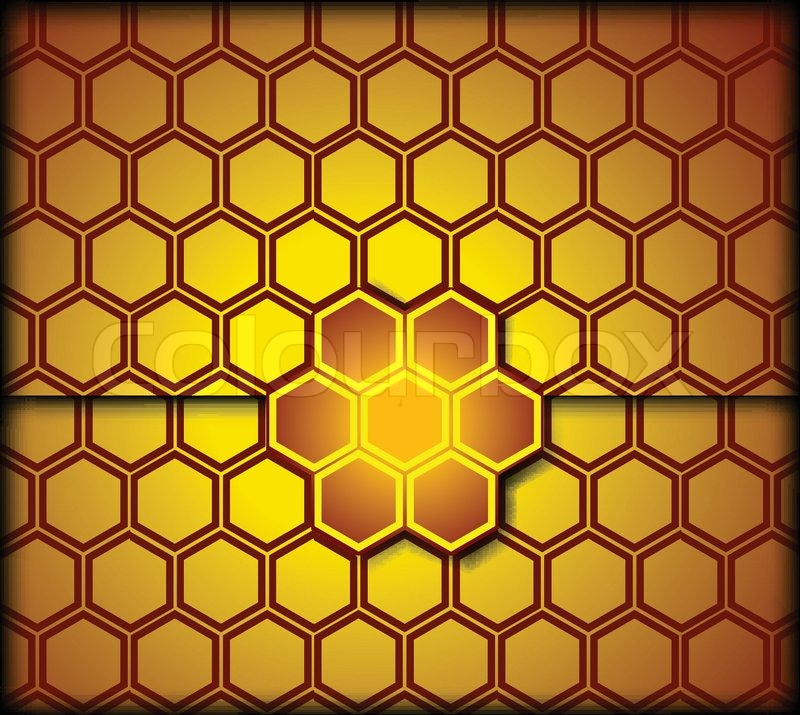 Honeycomb Background Vector Stock Vector Colourbox