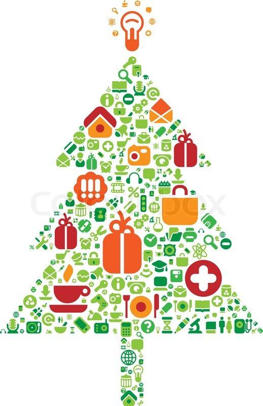 Weihnachtsbaum icons stock vektor colourbox - Weihnachtsbaum vektor ...
