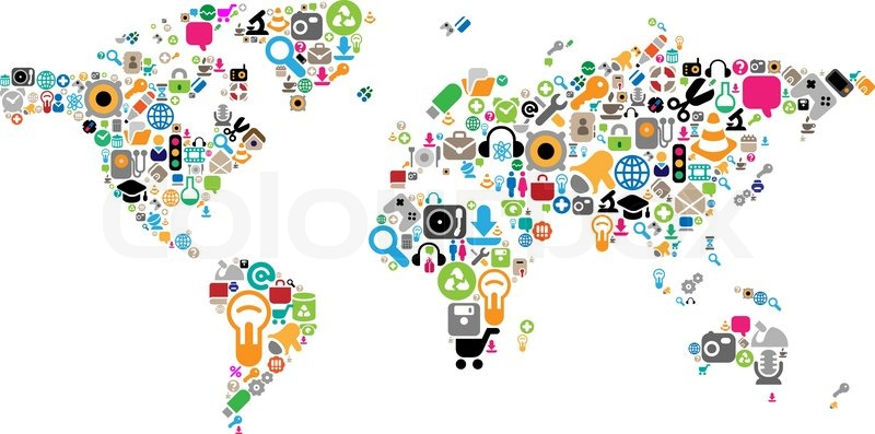 World map made of icons stock vector colourbox stock vector of world map made of icons gumiabroncs Images