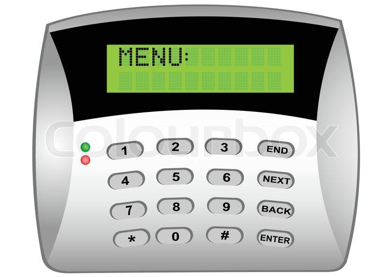 the panel of the security alarm system stock vector colourbox rh colourbox com Burglar Alarm Siren Burglar Alarm Funny