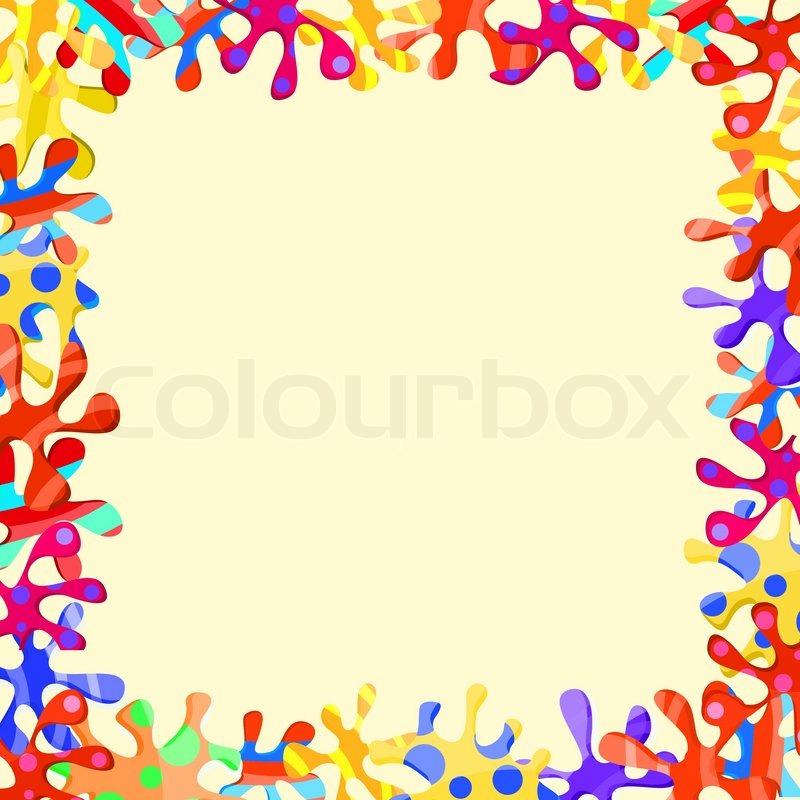 Кляксы цветные