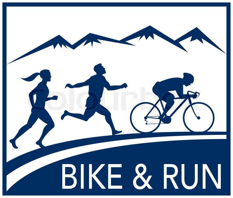Marathon Running Logos Marathon Runner Bike Cycle Run