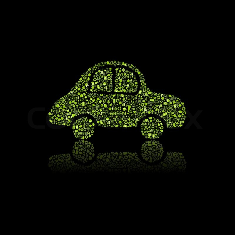 Green Car Icon Green Car Icon Pollution