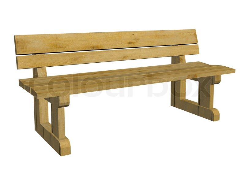 Wooden Park Benches ~ Wooden park bench d illustration stock photo colourbox