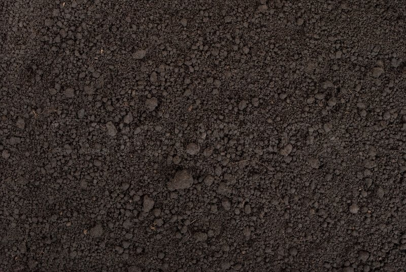 Black Soil Texture Stock Photo Colourbox