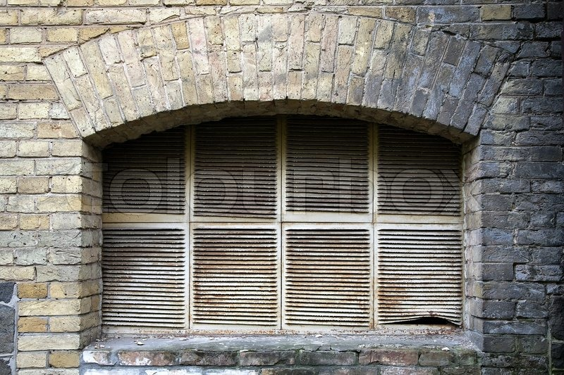 & Old basement window   Stock Photo   Colourbox