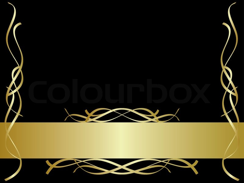 Black and gold background | Stock Vector | Colourbox