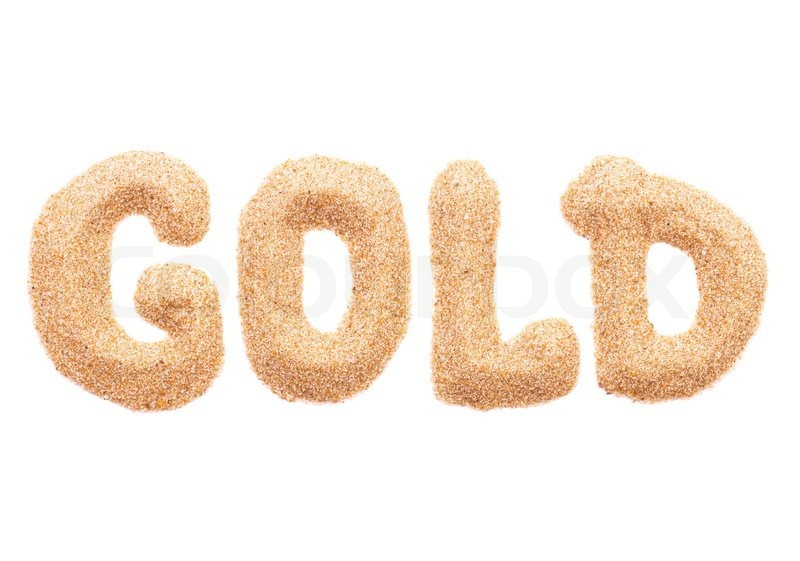 the word gold stock photo colourbox