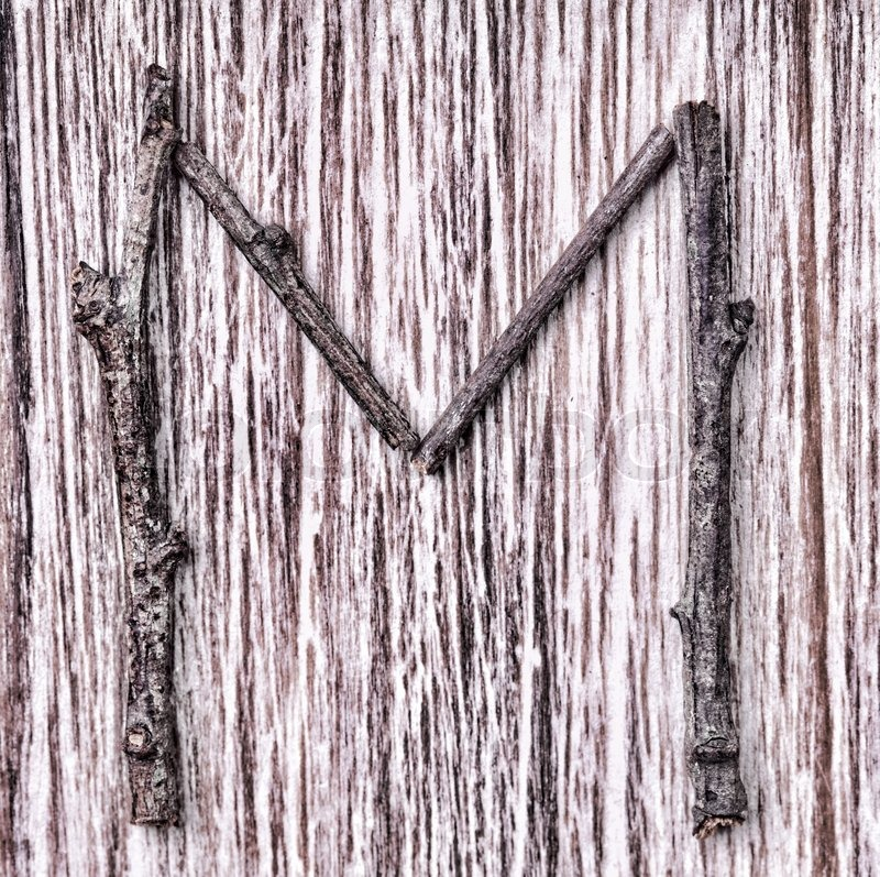 Latin capital alphabet letter M | Stock Photo | Colourbox