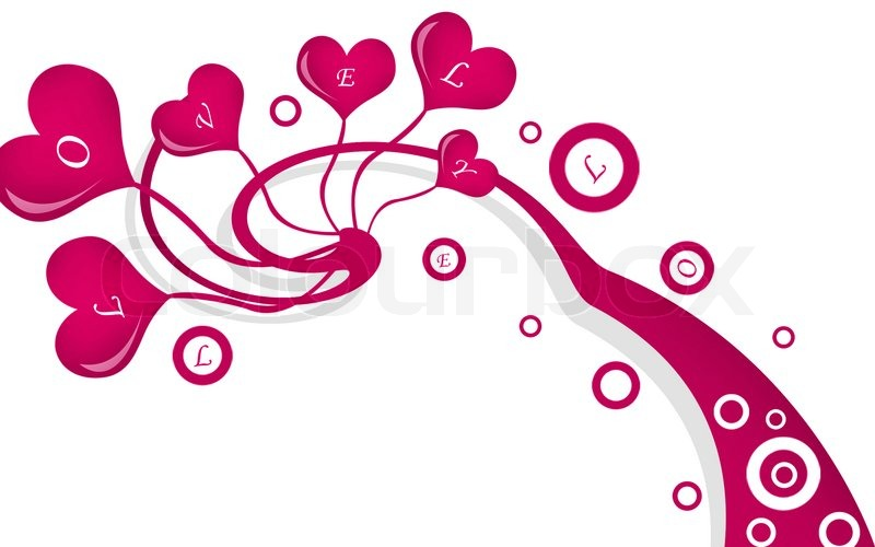 2d Illustration Of A Group Of Love Symbol In Attractive Background