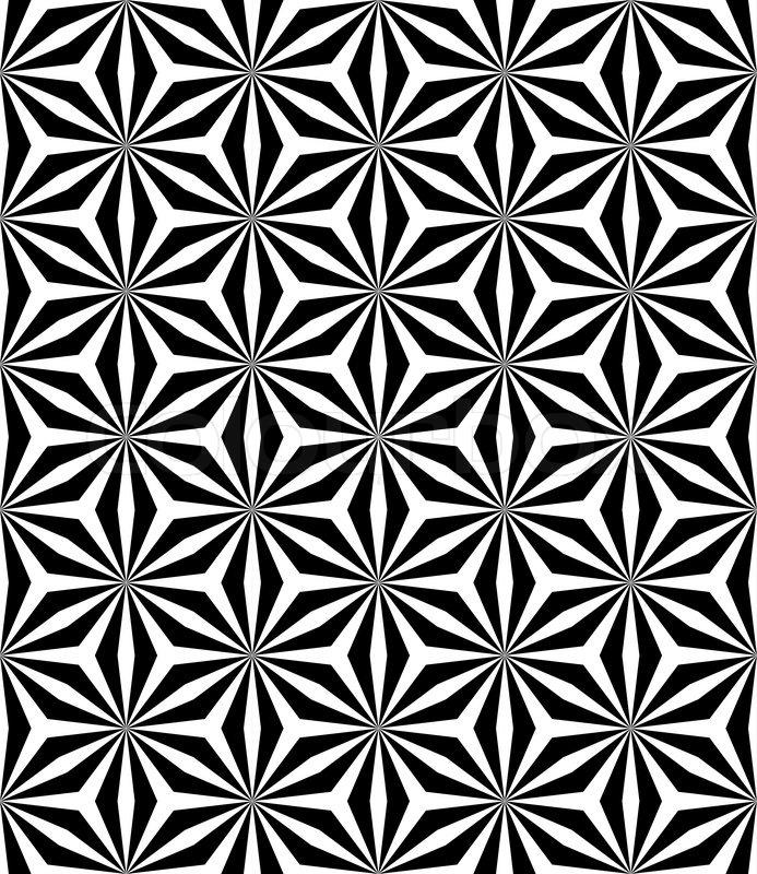 Op art seamless geometric pattern | Stock Vector | Colourbox