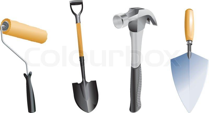 Gardening tools stock vector colourbox for Gardening tools vector