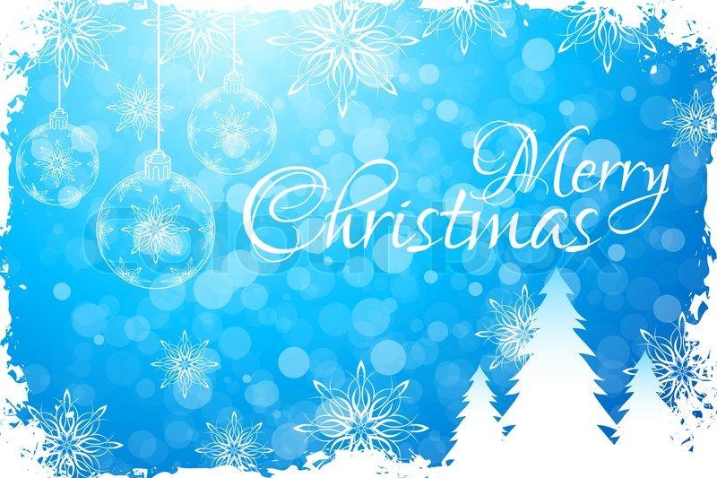 Blue Merry Christmas Greeting Card | Stock Photo | Colourbox