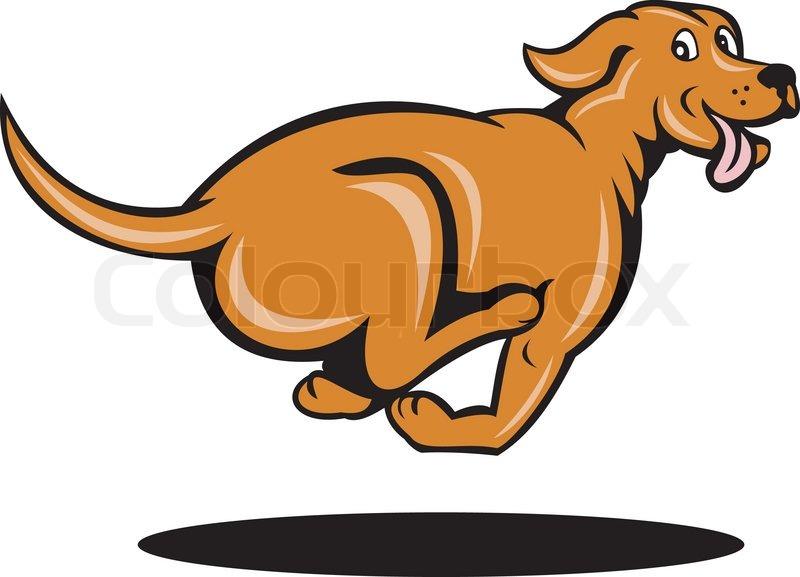 Рисунок бегущей собак