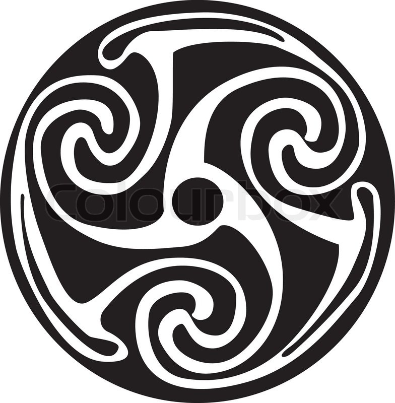 Celtic Symbol Tattoo Or Artwork Stock Vector Colourbox
