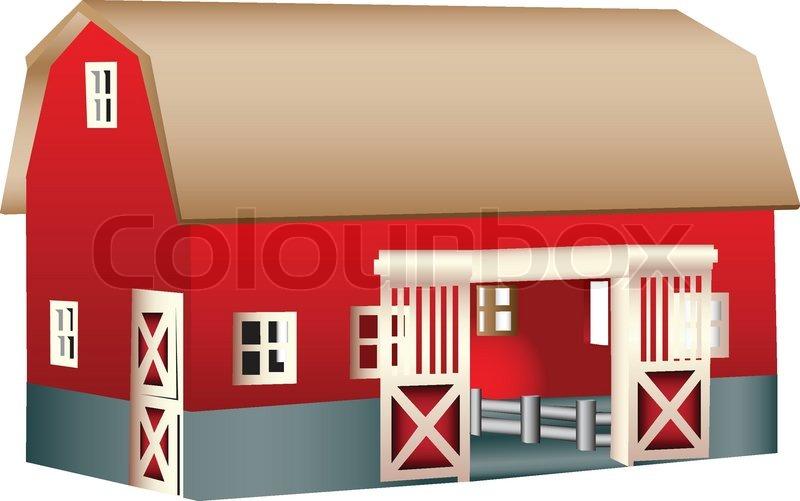 Rote holz spielzeug scheune vektorgrafik colourbox for Dekoration wohnung ausbildung
