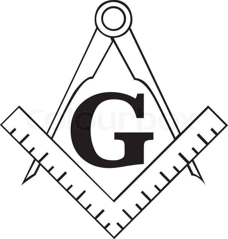 The masonic square and compass symbol freemason stock vector colourbox for Freemason vector