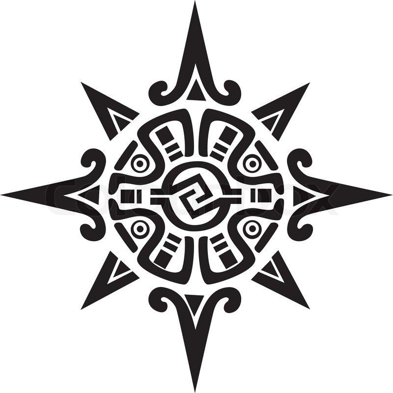 Mayan Or Incan Symbol Of A Sun Or Star Stock Vector Colourbox