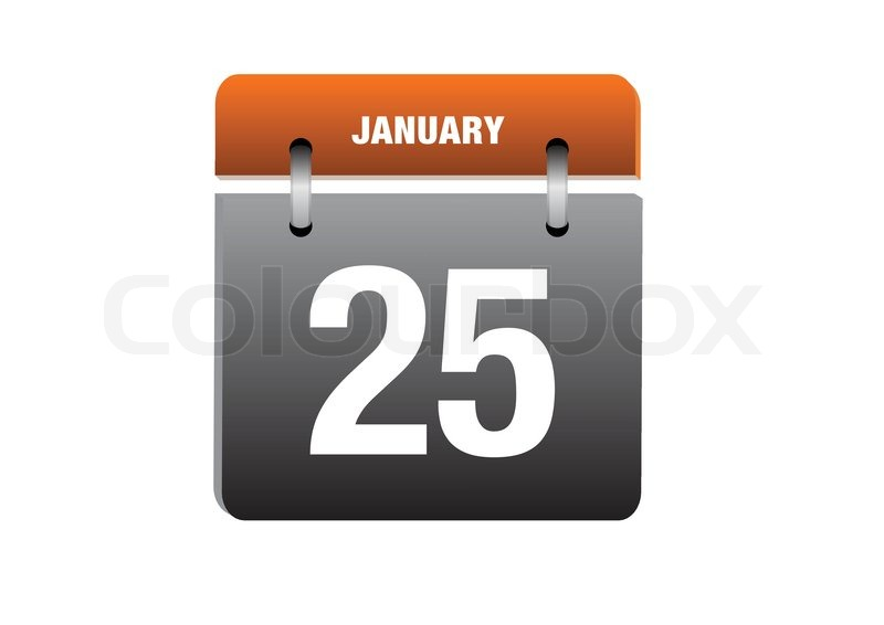 25 januar kalender ikon i retro stil stock vektor colourbox. Black Bedroom Furniture Sets. Home Design Ideas