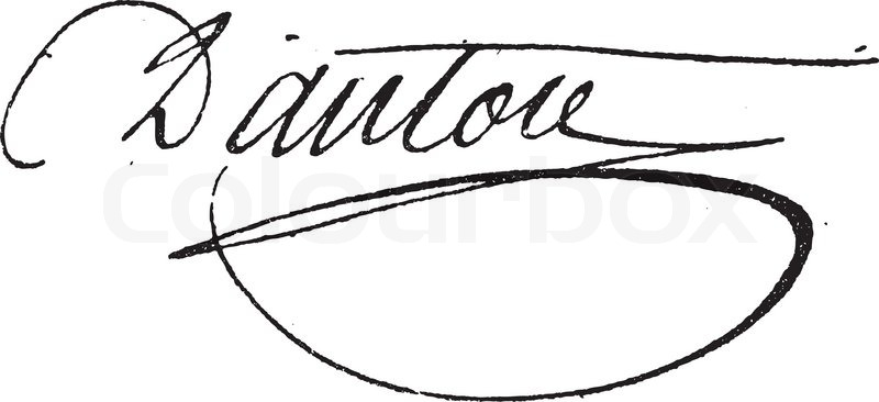 signatur von georges jacques danton 1759 1794 vintage gravur vektorgrafik colourbox. Black Bedroom Furniture Sets. Home Design Ideas